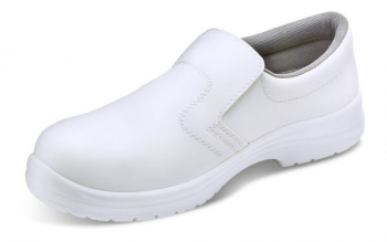 White Micro Fibre Slip on Shoe