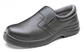 Black Micro Fibre Slip on Shoe