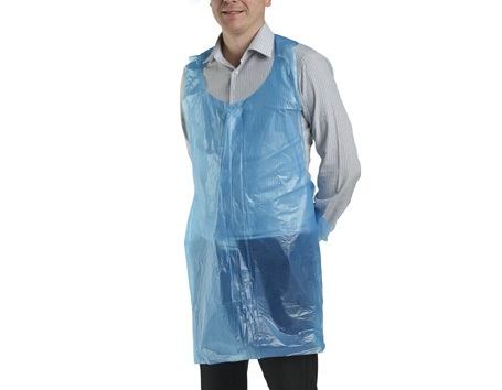 BLUE  DISPOSABLE APRONS(100bx)