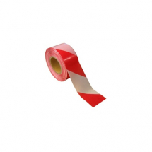 80mm x 500mtr     RED &  WHITE BARRIER TAPE