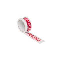 48mm x 66mtr      RED &  WHITE ADHESIVE TAPE inchFRAGILEinch