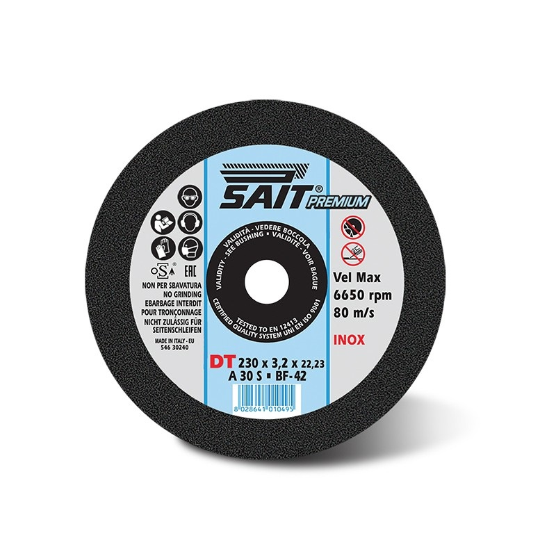 230mm x 2.5mm        D/C  A30S CUTTING DISC (BF.DT)