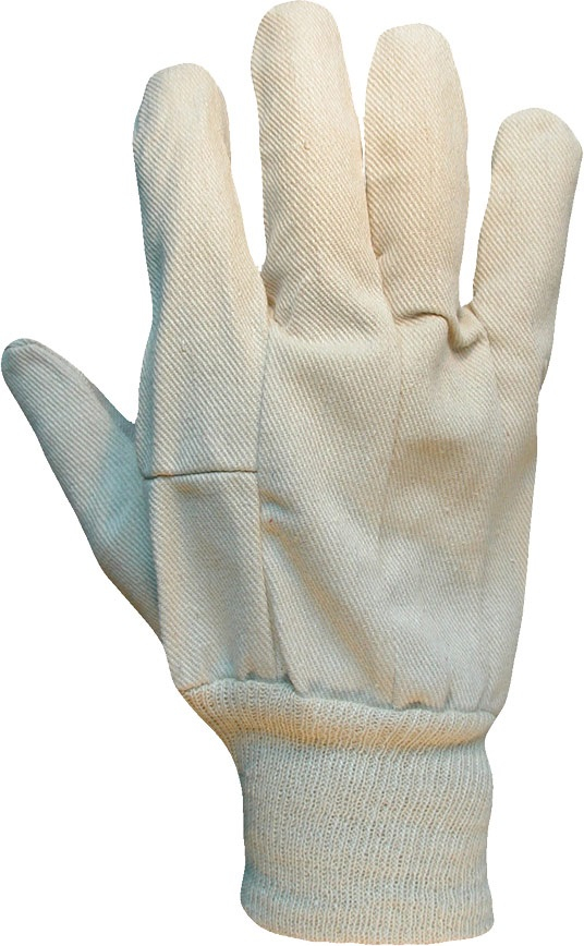 CD8M  MENS COTTON DRILL GLOVES (PACKED IN 12's)