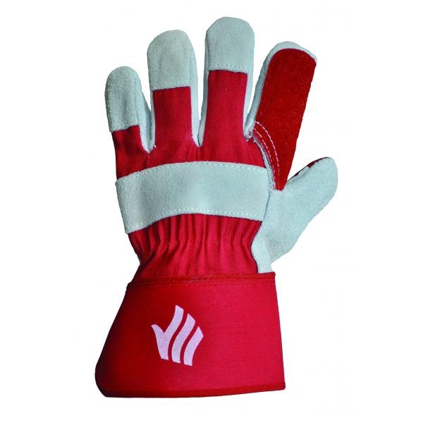 LR143DP HQ     RED DOUBLE PALM RIGGER GLOVES (PACKED IN 10's)
