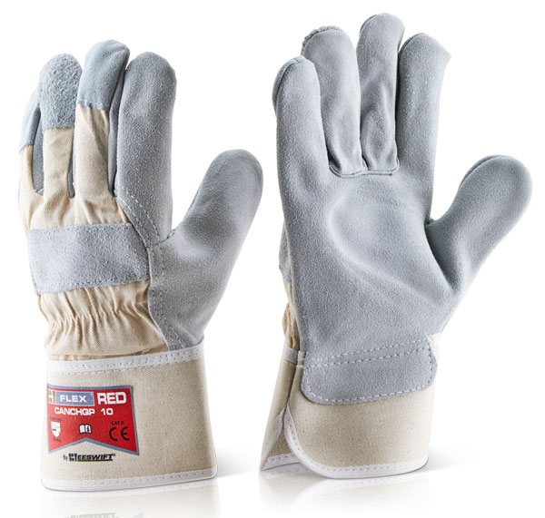 CANCHQP HQ NATURAL SINGLE PALM RIGGER GLOVES (PACKED IN 10's)