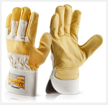 CANYHSP   CANADIAN YELLOW HIDE RIGGER GLOVES (PACKED IN 10's)