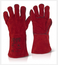 C2W   14inch CAT 2 RED    LEATHER WELDERS GAUNTLETS