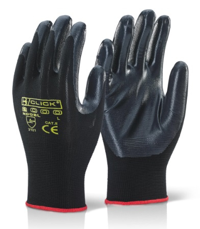 NITE STAR BLACK GLOVES SIZE  8 (PACKED IN 10's)