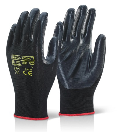 NITE STAR BLACK GLOVES SIZE 10 (PACKED IN 10's)