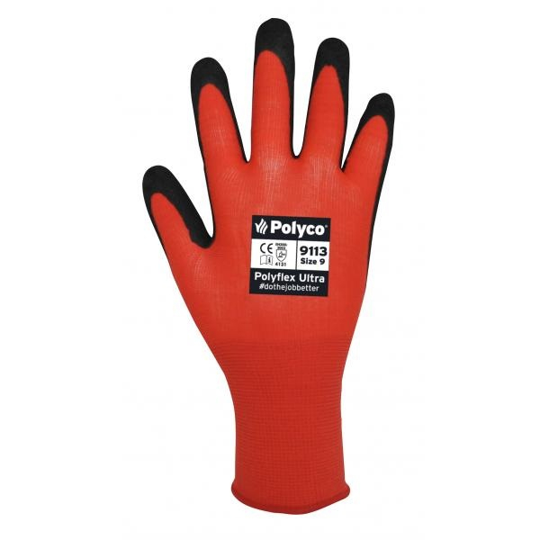 9110/6  POLYFLEX ULTRA NITRILE GLOVES (PACKED IN 10'S)