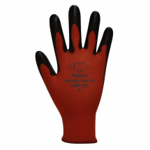 MRP/10    MATRIX RED PU COATED GLOVES (PACKED IN 12'S)