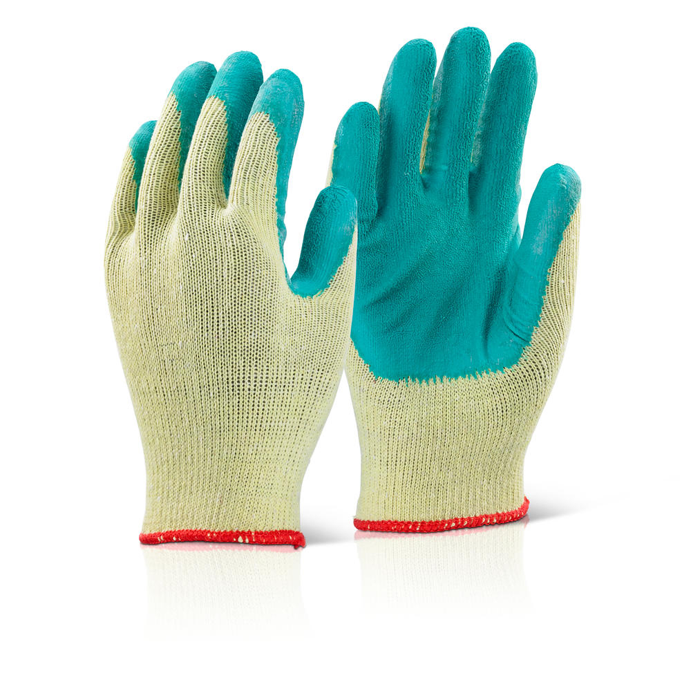 GRN/YELLOW  CONTRACTORS GLOVES XL/SIZE 10    (PACKED IN 12'S)