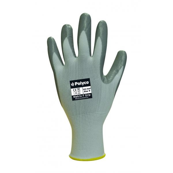 104-MAT10 MATRIX F/GRIP GLOVES (PACKED IN 12's)