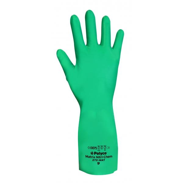 271-MAT/8 GREEN NITRILE GLOVES (PACKED IN 12'S)