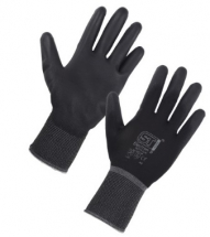 28775/11       BLACK PU COATED GLOVES (PACKED IN 12'S)