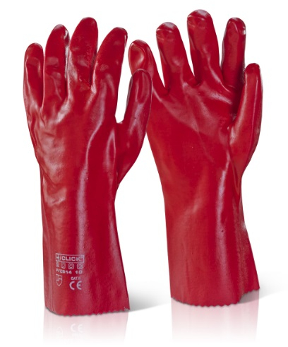 PVCR14   RED PVC GAUNTLETS 14inch (PACKED IN 10's)