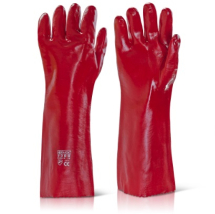 PVCR18   RED PVC GAUNTLETS 18inch