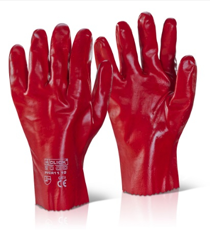 23023    RED PVC GAUNTLETS 11inch (PACKED IN 12's)