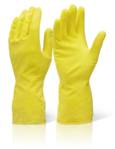 HHMWM  HOUSEHOLD RUBBER GLOVES YELLOW MEDIUM