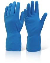 HHMWBL HOUSEHOLD RUBBER GLOVES BLUE LARGE