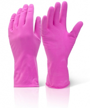 HHMWPS HOUSEHOLD RUBBER GLOVES PINK SMALL