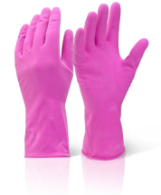 HHMWPM HOUSEHOLD RUBBER GLOVES PINK MEDIUM