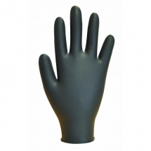 GL8972   DISPOSABLE POWDERFREE BLACK NITRILE GLOVES MED (100)