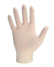 DISPOSABLE POWDERFREE    CLEAR LATEX GLOVES MEDIUM (100bx)