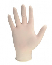 GL8883   DISPOSABLE POWDERFREE CLEAR LATEX GLOVES LARGE (100)