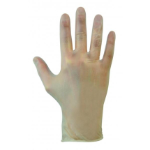 GL6223   DISPOSABLE POWDERFREE CLEAR VINYL GLOVES LARGE (100)