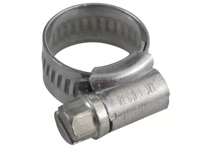 SIZE M00 11MM-16MM     JUBILEE ZINC PLATED HOSE CLIP