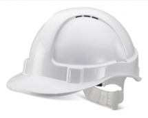 BBEVSHW   WHITE  VENTED SAFETY HELMET