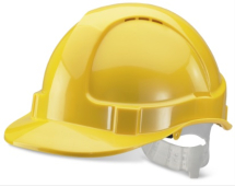BBEVSHY   YELLOW VENTED SAFETY HELMET