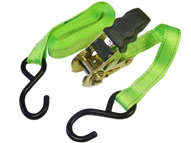 25mm x 5mtr   RATCHET TIE DOWN STRAPS (600kg) (2pce SET)
