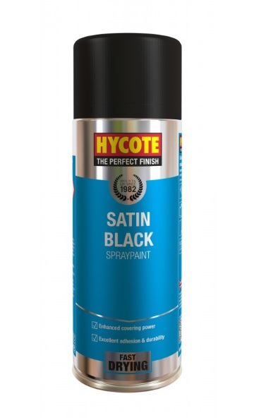 XUK0271     HYCOTE SATIN BLACK SPRAY 400ml