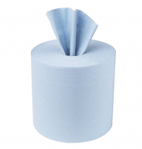 C2B157F    375sht 3inch BLUE 2PLY CENTREFEED ROLL