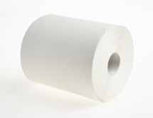 2175  EMBOSSED 150m WHITE 1PLY ROLL TOWELS