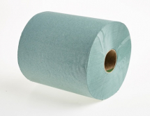 2113           200m GREEN 1PLY ROLL TOWELS