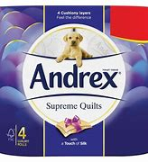 ANDREX       LUXURY WHITE 2PLY TOILET ROLLS (6pks of 4)