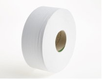 2076      330m 77mm WHITE 2PLY MAXI JUMBO TOILET ROLLS