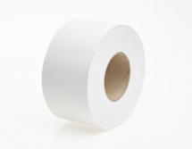 J27150N   150m 76mm WHITE 2PLY MINI JUMBO TOILET ROLLS