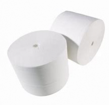 JCL100PN  100m 96mm WHITE 2PLY CORELESS TOILET ROLLS