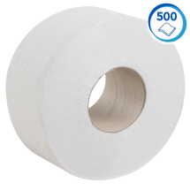 8614  KIMBERLY CLARK 200m 2PLY 76mm MINI JUMBO TOILET ROLLS