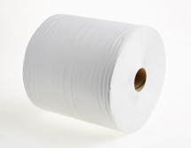 2112   350m 19.5cm  WHITE 1PLY WIPING ROLL