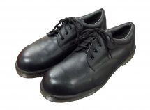 BLACK LEATHER TIE SAFETY  SHOE SIZE 8