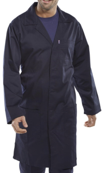PCWCN38    NAVY WAREHOUSE COAT 38Inch