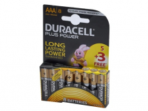 DURACELL PLUS POWER        AAA BATTERIES (8 PACK)